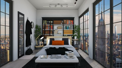 Booklover's Bedroom in the City - by creativediva