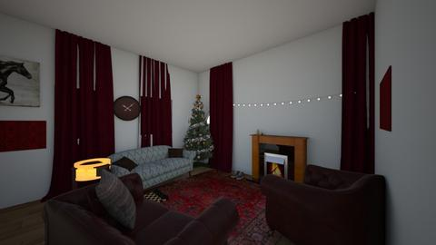 cosy lounge christmas - Living room - by IJH