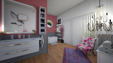 Cherry Blossom Bathroom - Feminine - Bathroom  - by donella