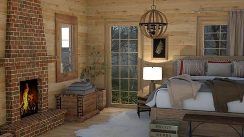 cabin bedroom - by rebsrebsmmg