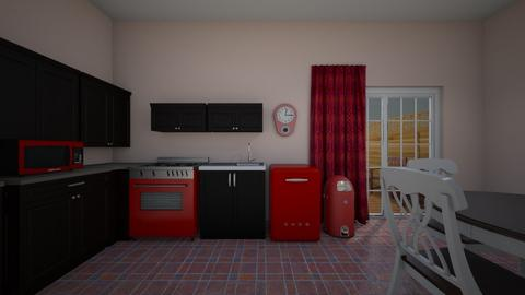 Red Kitchen - Kitchen  - by mspence03