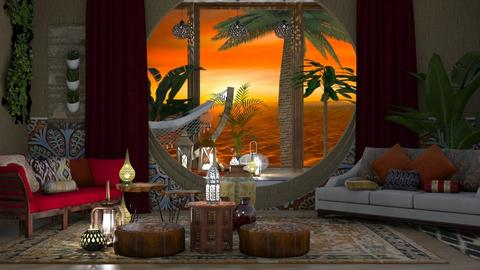 Oasis - Living room  - by Feeny