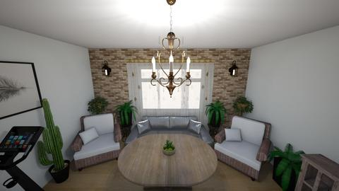 real_time - Rustic - Living room  - by Oryginal_nickname