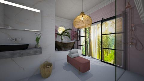 Cherry Blossom Bathroom  - Bathroom  - by Amy Robberts