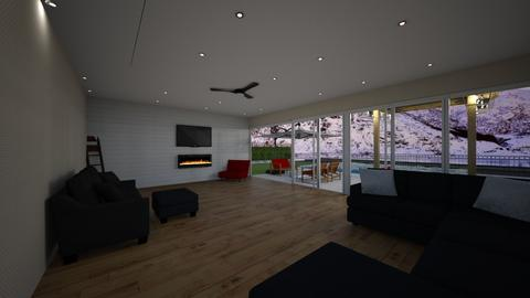 orange - Living room - by Emiley B