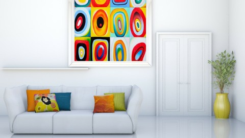WhiteAndColor - Living room  - by Cailyn V