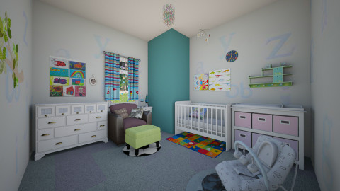 AndroGynous - Minimal - Kids room  - by Jhiinyat