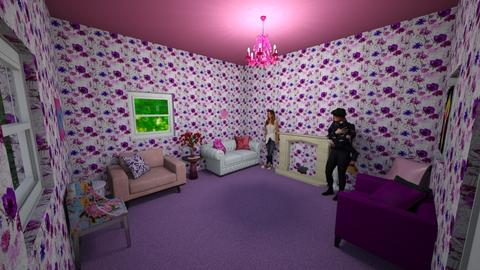 pink and purple room - Living room  - by dunlopgirl