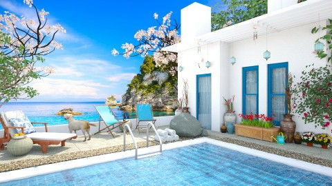 Design 85 Aegean Vacation - Garden  - by Daisy320