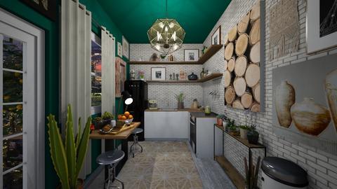 Downtown Vintage Apt - Kitchen  - by Jodie Scalf