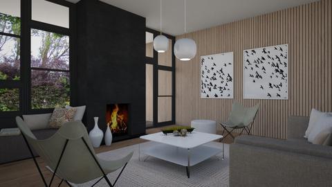 Oak walls - Living room  - by Tuija