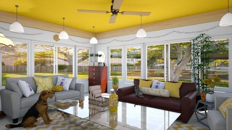 Bee Hive House - Living room  - by JoJo Y
