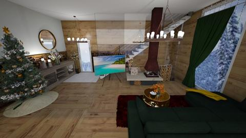 Christmas Lodge Living - Living room  - by Daively__1000