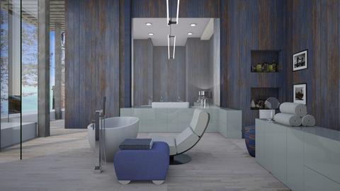 Blue Bath - by tika 008