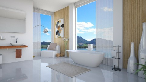 White Natura - Modern - Bathroom  - by Rose Hdz