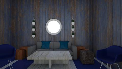 The tiny blue  - Living room  - by RainbowUnicorn10