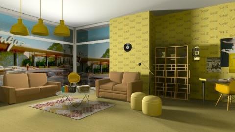 Back in Time - Retro - Living room  - by Geneva Hebron