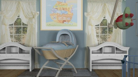 baby blue - Kids room  - by auntiehelen