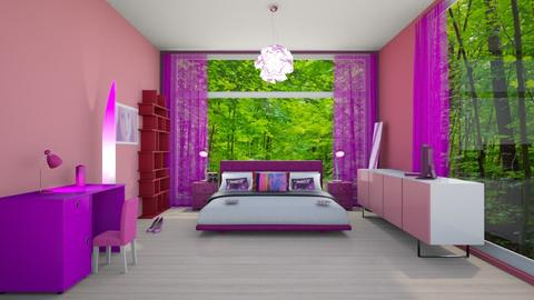 pink and purple - Feminine - Bedroom  - by tini2