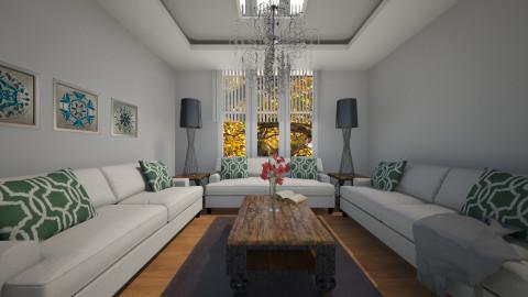 greywhite - Living room - by Georgieex