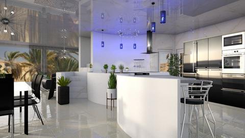 Blue Lighting_Kitchen - by ZsuzsannaCs