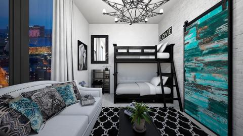 touches of color - Glamour - Bedroom - by chloe_mccarty
