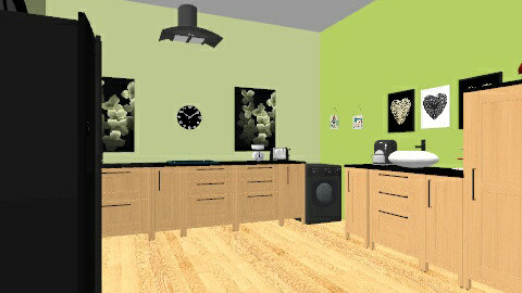 Green - Modern - Kitchen - by vintagevanity