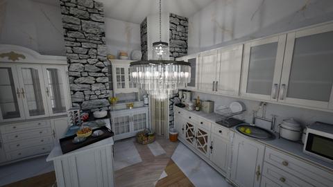 m - Kitchen - by hellokittydi