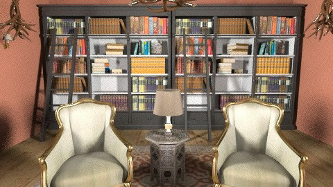 Contemporary Library - Rustic - by jessicalove