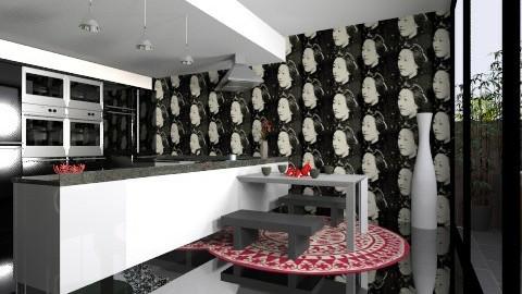 kitchen and garden  - Modern - Kitchen - by bethcot