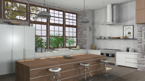 Random Spaces - Spacious Kitchen2 - Modern - Kitchen  - by LizyD