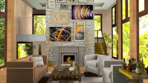 Forest house - Modern - Living room  - by Laurika
