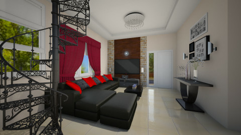 Living_CMJ - Living room - by ClaveriaCarla