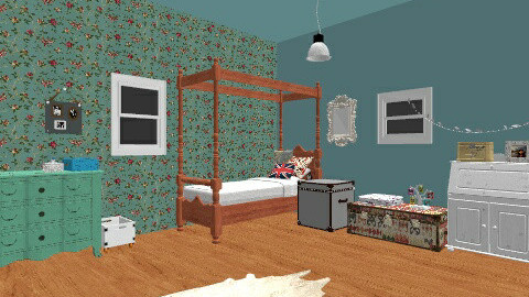 Sooo Vintage girls room - Vintage - Bedroom - by iheartteddy