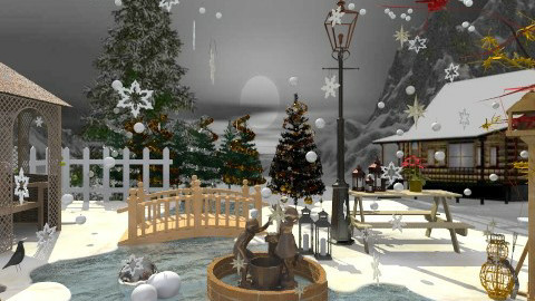 christmas - Country - Garden  - by ruaa shan