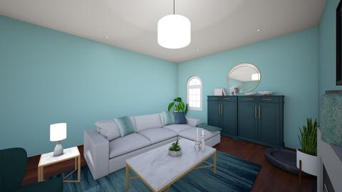 Teal Living Room - Glamour - Living room - by laurencihosky