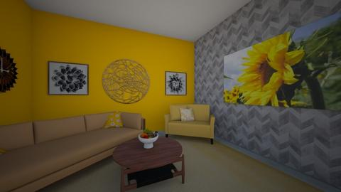 sunflower - Living room - by cfoltyniak