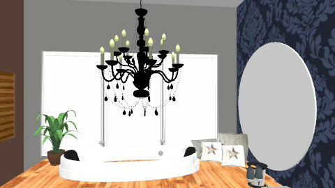 Chandelier_bathroom with a view! - Glamour - Bathroom - by mydeco_Jo