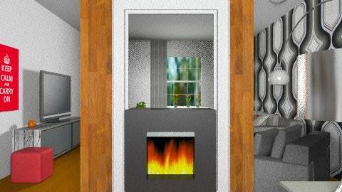 MF Vézina - Salon/Bureau rétro 15 - Retro - Living room  - by Yellow Moon Design