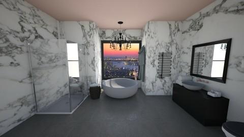 Bath with a View - Glamour - Bathroom  - by kennyhollis99