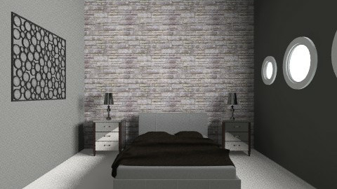 Stone BeW Room - Retro - Bedroom  - by Luizabm