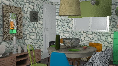 RR18 Eating Organically - Dining Room  - by KarenWilkinson