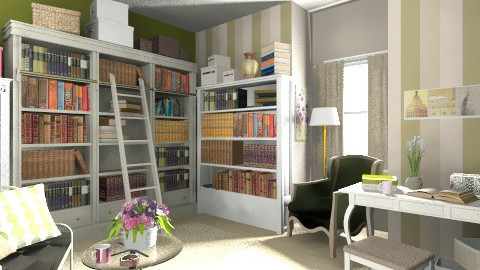 library - Vintage - Office  - by zoranaNS