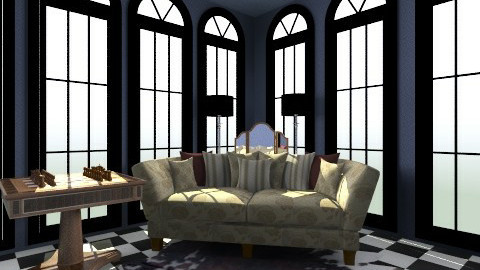 Black and Blue - Glamour - Living room  - by hetregent