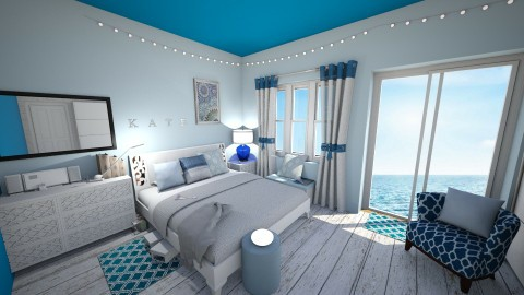 Blue Bedroom - Classic - Bedroom  - by kashanka