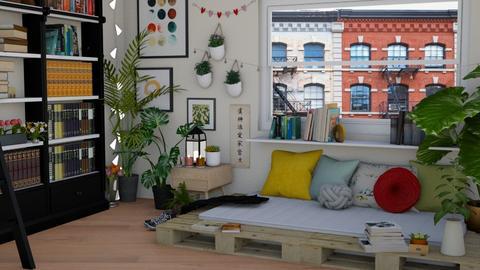 bdrm 001 - Minimal - Bedroom - by khionee
