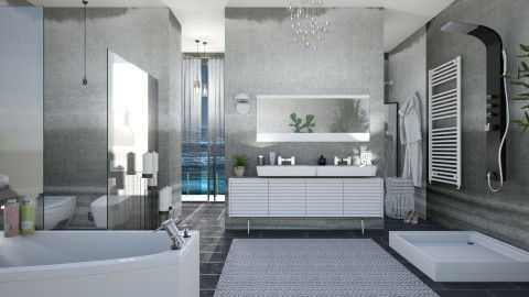 M_Shannon - Modern - Bathroom  - by milyca8