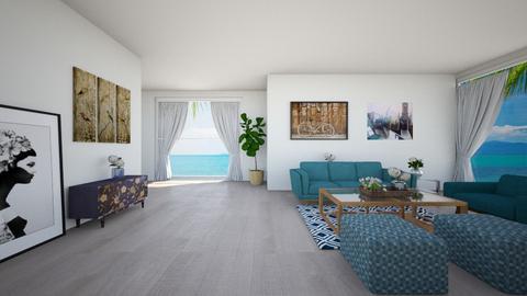 Beachy Vibe - Living room - by HeidiGarcia