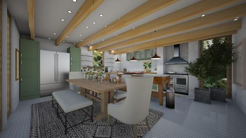 eclectic kitchen - Eclectic - Kitchen  - by willhenning2611