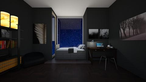 Lunar style room - Bedroom  - by Puppylover5673